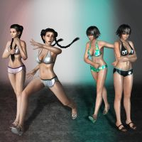 Dead Or Alive 5 Pai Chan Swimwear by ArmachamCorp