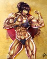 Akiko Daimon Muscle Girl by elee0228