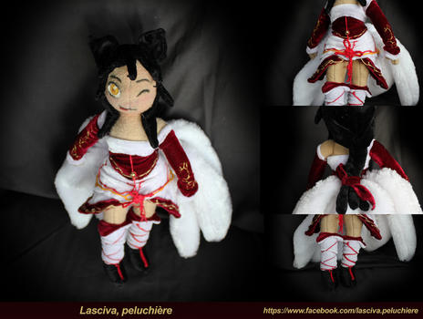 Ahri League of Legend Handmade plush by Peluchiere