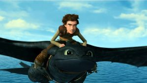 Dragons - Riders Of Berk - Hiccup + Toothless by DashieSparkle