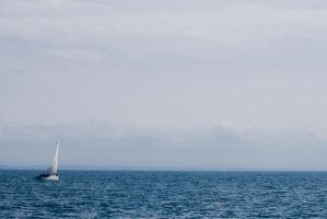 Sailboat offshore by IV47E