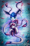 Glaceon and Sylveon Fusion by SHINXxPOOCHYENA