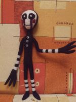 cute felted Marionette (fnaf 2) by QueenOfAvalar