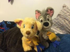 Angel and Scamp plushy puppies by NemesisPrime92