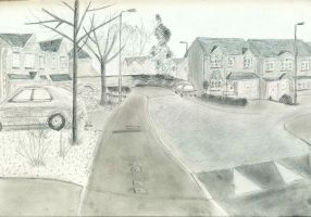 A dog's view of my street by luminousleopard