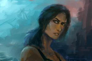 tomb raider reborn fan art by molcray