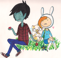 Marshal lee and Fionna by FrenchCrepes