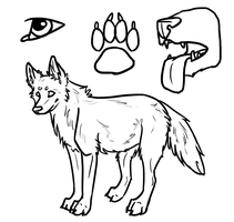 Free Wolf Lineart 4 by Kaiura