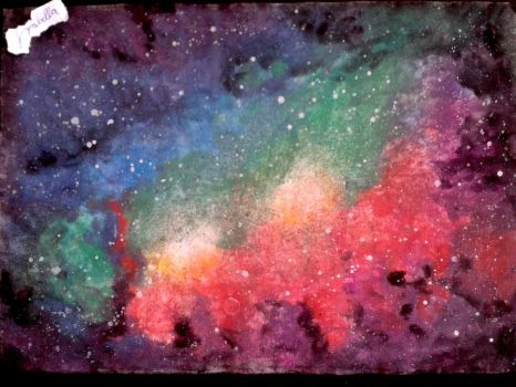 My first galaxy painting by Izabella7147