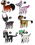 cheap adopts [2/6 left] - points or paypal ! by Escaboo-Adopts