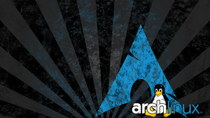 Arch Linux logo with Tux, distressed by N0BOX