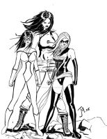 Marvel Girls by artistjoshmills