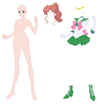 Crystal Sailor Jupiter Base 01 by SelenaEde