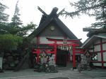 Shinto temple, Fuji mountain by nihonmasa