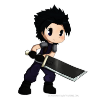Chibi Zack Fair by SilviShinystar