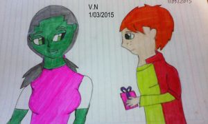 Art Trade with Kid Martian by VaderNihilus
