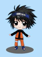 Death Note L Cosplaying (as Naruto)! by Puffypaw