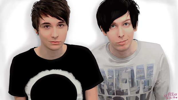 Dan and Phil by MissLillyArt