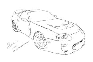 Toyota Supra 1995 (Commission for ~toyosupra) by Shirowe
