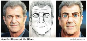 A perfect likeness of Mel Gibson by Art-of-Eric-Wayne