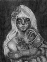Skull Lady. by Trillou