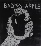 TAFE stuff bad apple woodblock by pie-lord