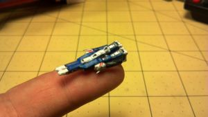 Micro Robotech SDF-1 in Cruiser mode by Dented-Rick