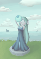 goddess statue by I-drew-a-pokemon