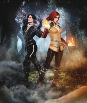 Triss and Yenn by AnubisDHL