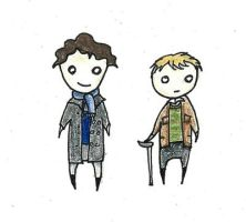 Little Sherlock and John by SmudgeThistle