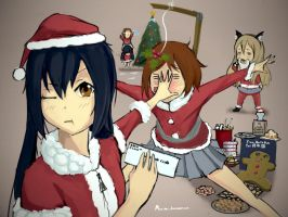 K-ON Christmas Shenanigans by Murimu