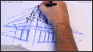 Learn how to draw city buildings 012 by drawingcourse