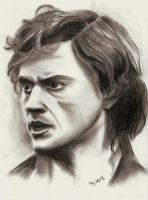 Enjolras in Charcoal by Diarmaida