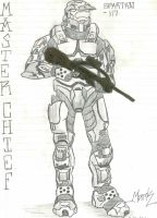 HALO 2 Master Chief by CrashyBandicoot
