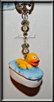 Rubber Ducky Keyring by MadamLuck