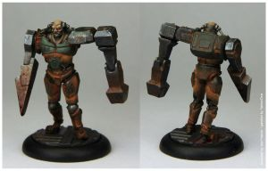 Quake 2 Berserker painted by YellowOne by TRUEvector