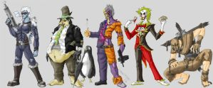 Arkham Inmates 1 by Cannibal-Cartoonist