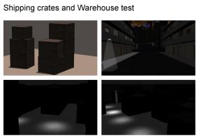 Shipping crates and Warehouse by mdbruffy