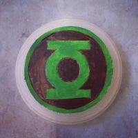 Woodburned green lantern slate by chui92