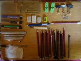 My Drawing Materials by Polonx