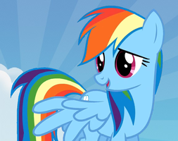Rainbow dash Wallpaper by Slousberry