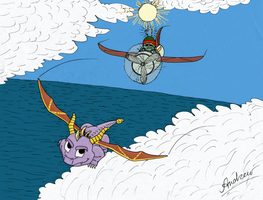 Sunny Flight  in color by GreenGimmick