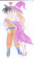 V-Day Gohan and Eleonora by FoxBluereaver