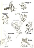 Gryphons, mostly by applescruff