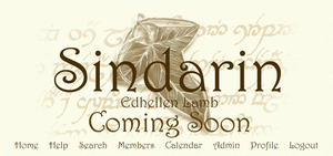 Sindarin Logo by WickedDesktop