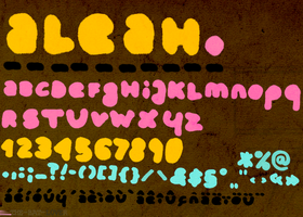 ALEAH.font by THE-BAT-L0VER