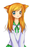 Colored Lineart - Cat Girl by Akeudi