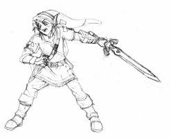 Link, the Hero of Legend (sketch) by Blayaden