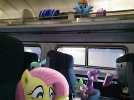 Riding The Train by OJhat