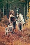 Warrior and the wolf by RaphaelleM